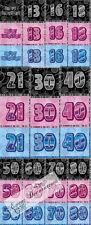 HAPPY BIRTHDAY GLITZ 13-60th NAPKINS - PACK OF 16,3 COLOURS