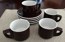 Set of 4 Vintage Ceramic Cups & Saucers - Coffee - Latte - Cappuccino Never Used