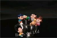 5pcs/Set Anime Crayon Shin-chan Cup Edge Water Mini Figure Collection
