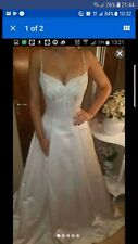 Maggie sottero haute coutureIvory wedding dress size 10 corset back unaltered