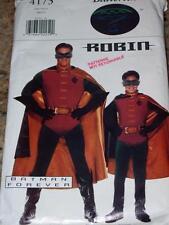 BUTTERICK #4173-MEN'S FANTASTIC BATMAN FOREVER - ROBIN COSTUME PATTERN  XS-XL uc