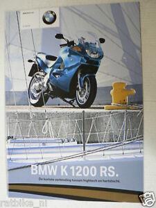 FN649-BROCHURE BMW K1200RS,  PROSPEKT,  MOTORCYCLE DUTCH 24 PAGES 2003