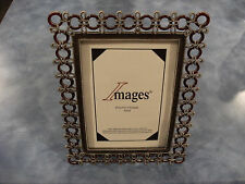 """Images Stand Up Photo Frame 4""""x6"""" Heavyweight metal (rings and rope) Kohl's- New"""