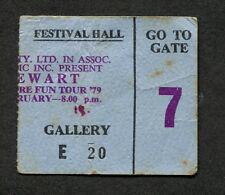 1979 Rod Stewart Concert Ticket Stub Brisbane Australia Blondes Have More Fun