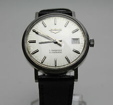Original Longines Conquest Gents' Vintage Automatic Stainless Steel Wristwatch