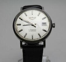 Reloj de Pulsera Original Longines conquista Caballeros's Vintage Acero Inoxidable Automático