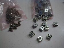 Equipment Rack Clips & Screws, C type snap in, 10-32 thread NOS 12 pcs each
