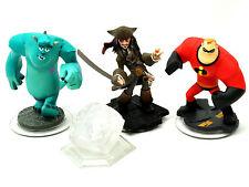 Disney Infinity Figures + Crystal -SULLY, JACK SPARROW, MR INCREDIBLE + CRYSTAL
