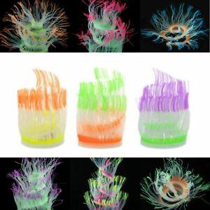 Fish Tank Ornaments Glowing Coral Artificial Silicone Sea Anemone Aquarium Decor