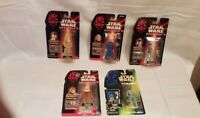 Vtg 1990's Star Wars Action Figures The Power of the Force, Episode 1 Lot of 5