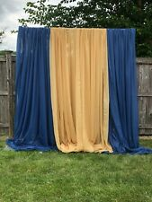 (4 ) Gold Sheer Voile drape panel 10' x 20' wide.