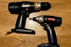 Ryobi One Plus 18v Drill And Impact Driver