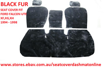 BLACK FUR,ARITIFICIAL SHEEPSKIN  SEAT COVER FORD XF,XG,XH UTE 1994-1998 3 SEATER