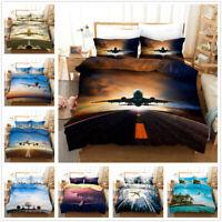3D Aeroplane Bedding Set Duvet Cover Pillowcase Comforter Cover Airplane Print