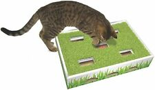 New listing Fun Fake Grass Hunting Maze Multiple Cat Box Toy w Jingle Balls - Hours of Play