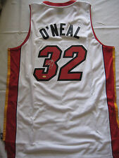 SHAQUILLE O'NEAL SIGNED AUTOGRAPH MIAMI HEAT WHITE JERSEY MM /COA