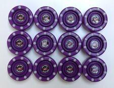 *SALE* 12 NEW Purple IDS Pro Shot Roller Inline Hockey Pucks Fast Shipping!