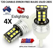 4 X T20 7443 15 SMD LED DUAL FILAMENT CAR BRAKE STOP TAIL LIGHT BULB 12V WHITE