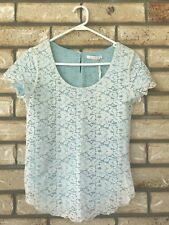 Sass Lace & Mint Top Size 6 BNWT