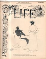 1899 Life July 6 - Philippines golf, band captured and rows of dead bodies; Hose