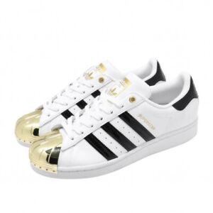 adidas Originals Superstar Metal Toe W White Gold Black Stripes FV3310 Women's