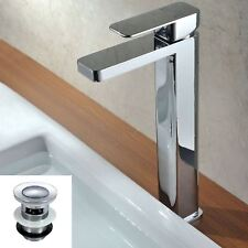 Glaza Faucet Monobloc Counter Top Tall Bathroom Sink Basin Mixer Tap & Waste