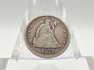 1875-S Twenty Cent 20C Piece **FINE CONDITION/ DETAILS, Great Piece!**