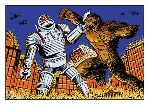 Doctor Who Art Print The Giant Robot vs King Kong by Scott Gray