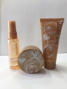 Smell Good MaryKay Creamy Frosted Vanilla Fragrance Bath Shower Set Travel Bag