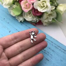 8pcs Teddy Bear Charm Tibet silver Charms Pendants DIY Jewellery Making crafts