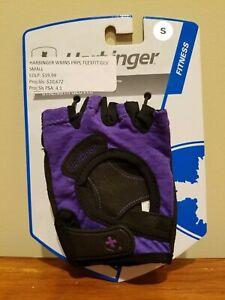 Harbinger Womens FlexFit Fitness Strength Gloves - Purple / Black - Size S Small
