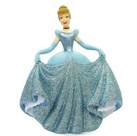 Disney Princess Cinderella Blue Dress Glitter Figure Figurine Cake Topper