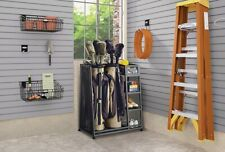 Golf Sports Gear Storage Station Shoe Rack Organizer Holds 2 Bags Clubs Ball Bin