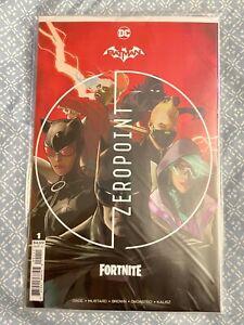 🔥DC Batman Fortnite Zero Point #1 Mikel Janin Cover A w/ Harley Quinn Skin CODE
