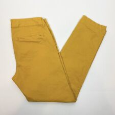 Old Navy 2 Pixie Pants Chino Mustard Yellow Golden Opportunity Cotton