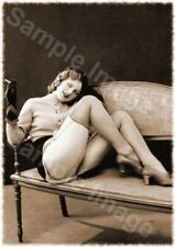 Vintage 138 1920's Erotic Female Nude Sepia Retro Art PHOTO REPRINT A4 A3 or A2