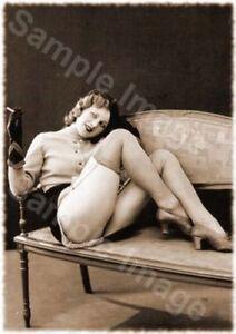 Vintage 138 1920's Erotic Female Nude Sepia Retro Art PHOTO REPRINT A4 A3 or A2