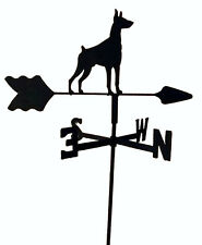 Doberman Pinscher Garden Weathervane Wrought Iron Look Made In Usa Tls1049In