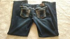 Maurices Size 9/10 Jeans, Super Cute! Wear on back hem from daughter's spurs