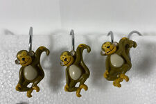 CUTE MONKEY Shower Curtain Rings Set of 22 Very Nice For Children Bathroom