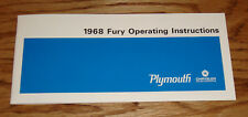 1968 Plymouth Fury Owners Operators Manual 68