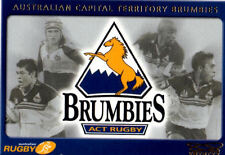 ACT Brumbies Rugby Union Trading Cards