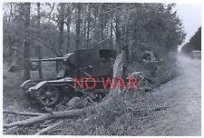 WWII ORIGINAL GERMAN WAR PHOTO KNOCKED TANK
