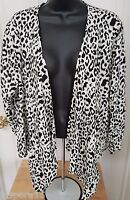 Maurices NWT Womens Cream Black Leopard Print Shirt Top Blouse Size XL