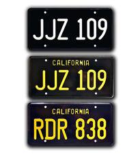 Bullitt Mustang | Steve McQueen | Metal Stamped Replica Prop License Plate Combo