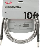 Genuine Fender Professional Series Guitar/Instrument Cable, WHITE TWEED - 10' ft