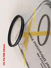 1 UV FILTER 62 mm 62mm Ultraviolet Multi-Coated AptTo Camera Camcorder Video