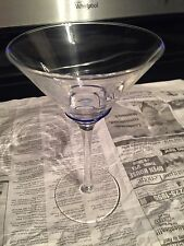 Used Martini Glass With A Blue 3 Spiral Rims above The Stem