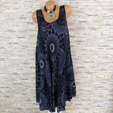 MADE IN ITALY Hängerchen Kleid Sommerkleid Ornamente Ethno marine 40 42 44
