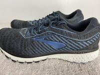 Brooks Men's Size 9.5 Ghost 12 Running Shoes Gray Black Marathon Crossfit Boston